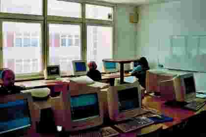 Sale komputerowe dawniej